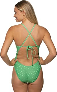 JOLYN Women's Tie-Back Jackson4 One-Piece Swimsuit Prints/Estrella