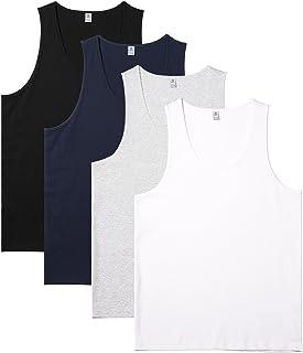 PACK OF 2 STEDMAN HANES CLASSIC 100/% COTTON VEST TANK TOPS WHITE XL