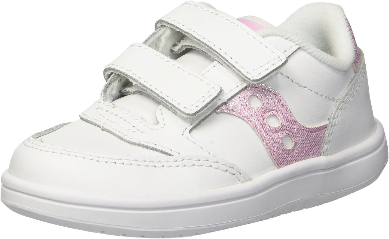 Saucony Girls Baby Jazz Court Sneaker, White/White, 11 Little Kid
