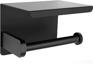 Perfectosan | Toiletrolhouder | Superior Collection | Model Theodotus | Montage zonder boren | Mobiele telefoonhouder zwart
