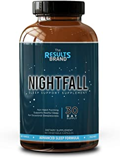 Natural Sleep Aid - Non-Habit Forming Vegetarian Sleeping Pills - Herbal Complex with Melatonin, 5-HTP, L-Theanine, GABA, Magnesium - 60 Veggie Capsules - Sleep Support Supplement (Full 30-Day Supply)
