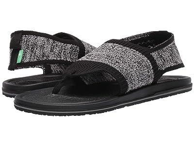 Sanuk Yoga Sling 3 Knit (Black/Grey) Women