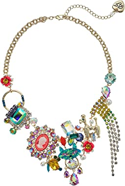 Betsey Johnson - Multi and Gold Frontal Necklace
