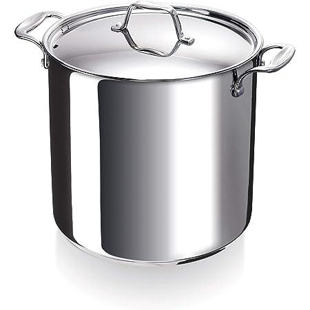 Bekaline 12063244 Chef Traiteur + Couvercle en acier inoxydable 24 cm