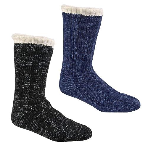 Clever 1 Mens Thermal Non-slip Grip Lounge Slipper Socks Uk 7-11 Socken Kleidung & Accessoires