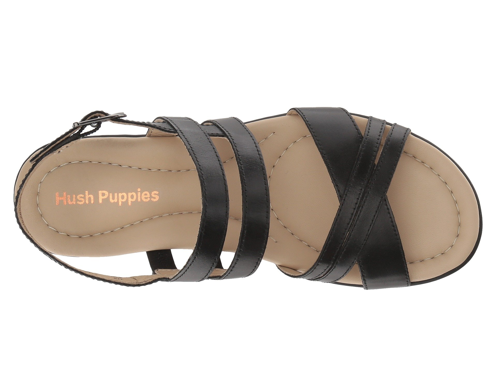 Black Leather Puppies Hush Strappy Dachshund tqUHRP