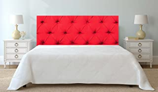 Oedim Cabecero Cama Cartón ecológico | Impresión Digital | Sin Relieve | Color Rojo 150x60 cm | Cabecero Ligero, Elegante, Resistente y Económico