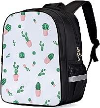 Backpack for School - Simple Bookbag, Cactus Pot Girls School Bags Kids Bookbags Teens Shoulder Bag Casual Laptop Bag with Bottle Side Pockets