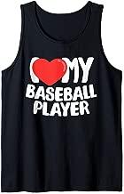 I Love My Baseball Player Tank Top