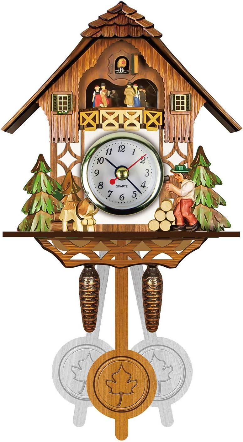 Wood Cuckoo Wall Clock Retro for Decor Quartz Home Challenge the lowest price Max 79% OFF of Japan ☆ Pendulum