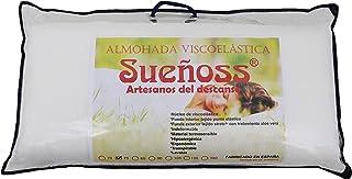 KN Almohada Viscoelástica Aloe Vera Ergonómica Indeformable Hipoalergénica Lavable y Transpirable 70, 75,80, 90, 105, 135, 150 (90)