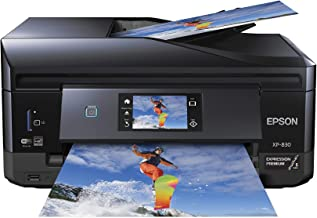 Epson XP-830 Wireless Color Photo Printer with Scanner, Copier & Fax, Amazon Dash Replenishment Enabled (Renewed)