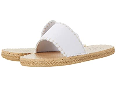 Sea Star Beachwear Cabana Slide (White Denim) Women