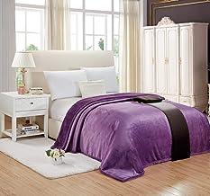 Moon Soft Fur Blanket, King Size 200X220 cm, Fhmt-012, Purple, Faux Fur