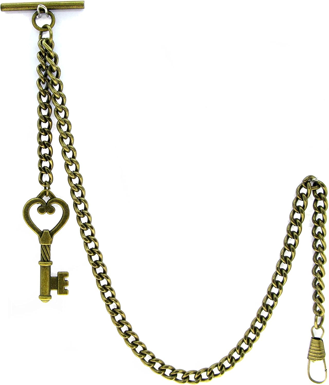 Albert Chain Pocket Watch Chains for Plating w Brass Antique Men Super special price Sales
