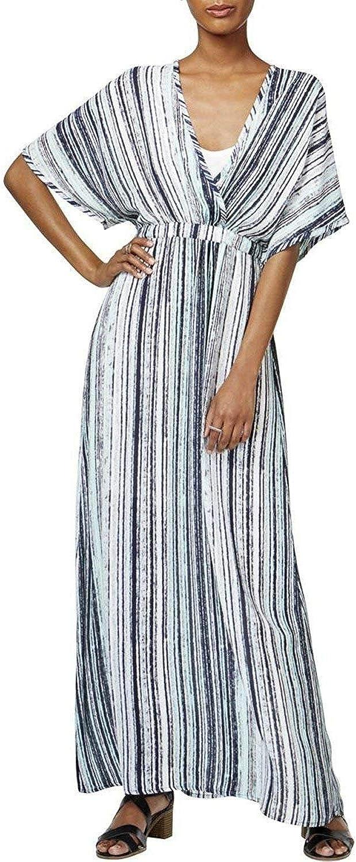 Bar Iii Womens Stripes & Stripes Maxi Dress