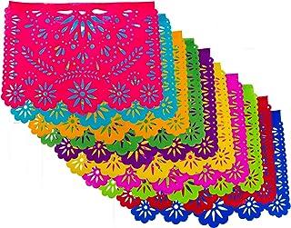 Decoración - Papel Picado Mexicano - Kit de 5 tiras de Plástico picado con 10 carpetas