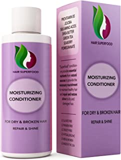 Hair Conditioner for Dry + Damaged Hair - Moisturizing Argan Oil Treatment for Frizzy + Brittle Hair - Prevent Breakage + Natural Growth - Sulfate Free Deep Conditioner for Men + Women with Keratin
