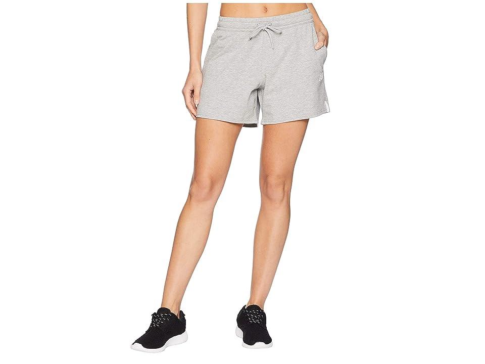 New Balance NB Athletic Knit Shorts (Athletic Grey) Women