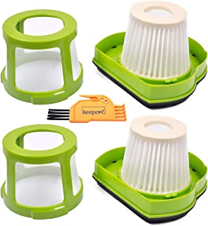 KEEPOW Vacuum Filter Replacement for Bissell 1782 Pet Hair Eraser Hand Vac. Compare to Part # 1608653 & 1608654. 2-Pack