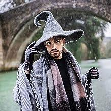 Sombrero de bruja retorcido negro gris verde marrón de lana dark wicca halloween harry potter disfraz cosplay