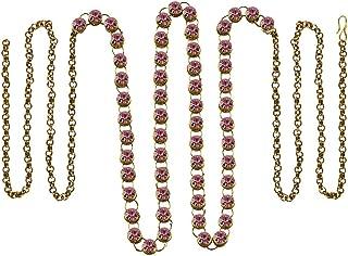 Vidhya Kangan Belly Chains for Women (Pink) (bro181)