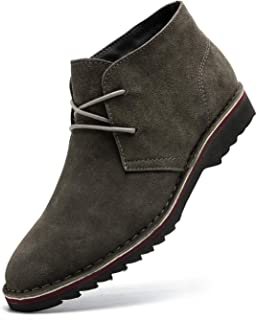 Men's Suede Leather Chukka Boot Lace Up Casual Shoes
