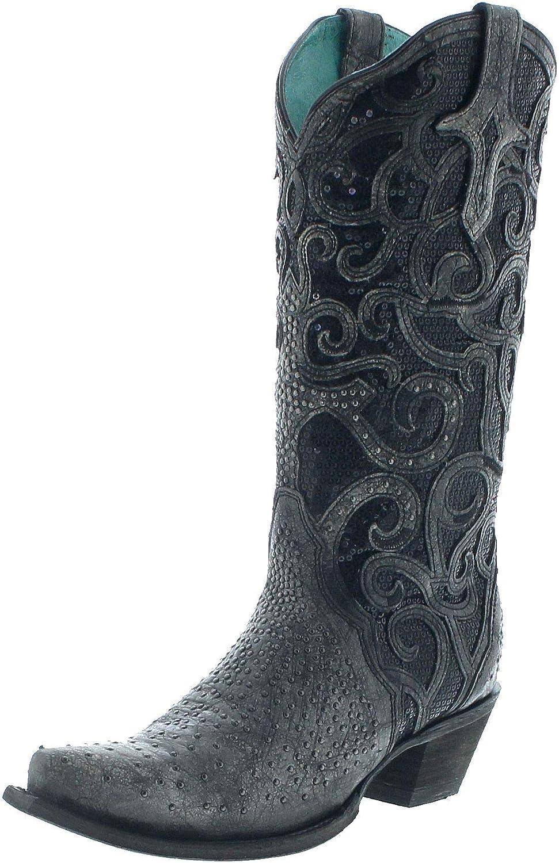 C3446 Stiefel Cowboy Stiefel Corral Lederstiefel Damen