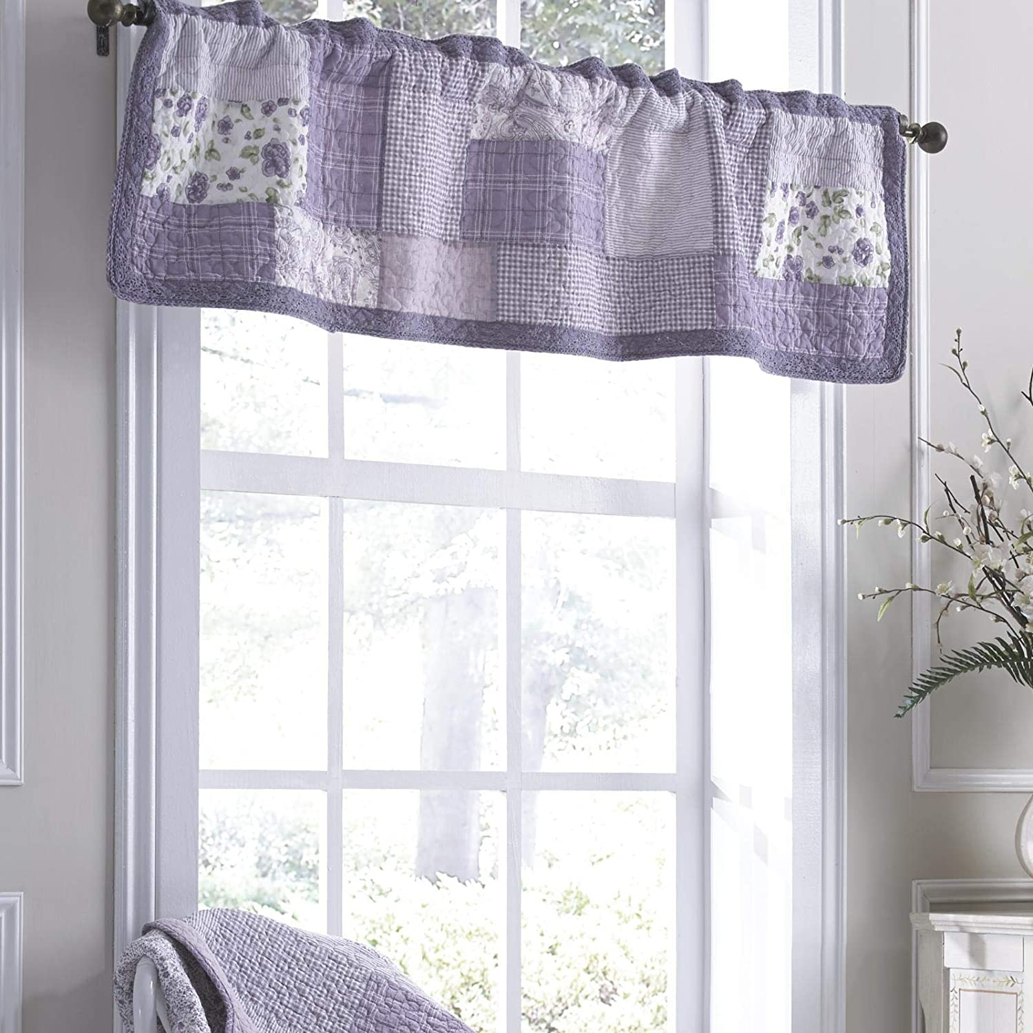 Donna Sharp Sales for sale Valance - Lavender Wind Chicago Mall Contemporary Decorative Rose