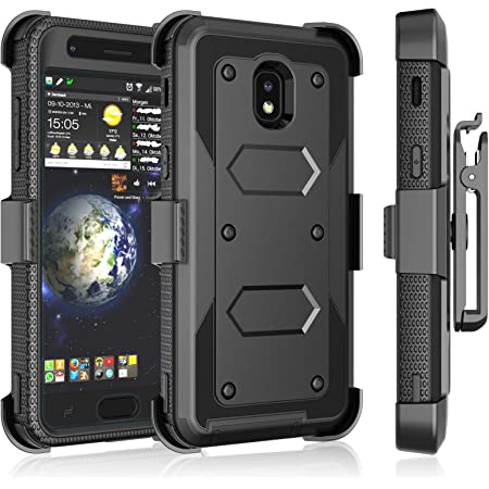 J7 V 2nd Gen, Refine, Crown, Aura, Top - Tri-Shield Military Grade Kickstand Case with Flexible USB Cable Bemz Accessory Bundle for Samsung Galaxy J7 Star 3.3 Feet Red Vines