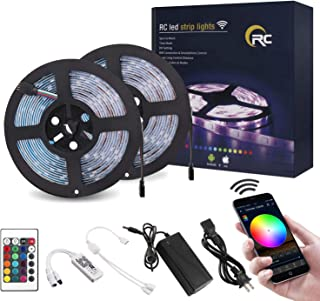RC WiFi LED Strip Lights 32.8ft RGB LED Strip Light 5050 LED Light Strip Color Changing..