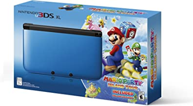 Nintendo 3DS XL Blue/Black Limited Edition with Mario Party: Island Tour Game