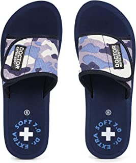 DOCTOR EXTRA SOFT Women's Camo Ortho Care Orthopaedic and Diabetic Velcro Adjustable Strap Super Comfort Dr Sliders Flipfl...