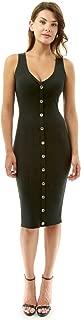 PattyBoutik Women V Neck Sleeveless Knit Dress