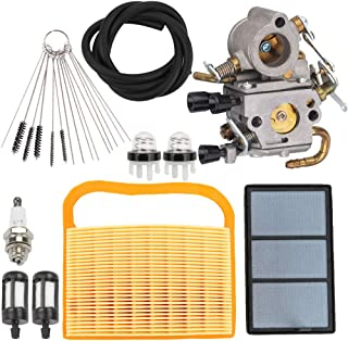 Hayskill TS420 TS410 Carburetor for Stihl TS410Z TS420Z Concrete Cut-Off Saw Zama C1Q-S118 Carb 4238 120 0600 with Tune Up Kit 4238 140 4401 Air Filter Fuel Line Spark Plug
