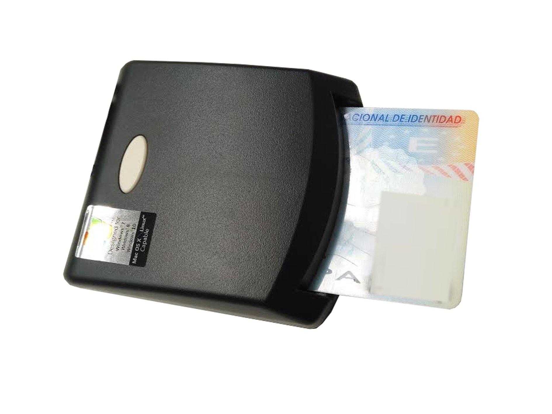 Lector de Dni Electronico Tarjetas Inteligentes USB 2.0 NEGRO: Amazon.es: Electrónica