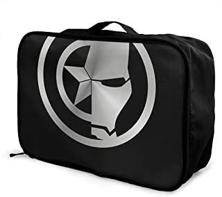 Meirdre Travel Duffel Bag Iron Man Black Lightweight Large Capacity Portable Luggage Bag Weekender Bag Overnight Carry-on Tote