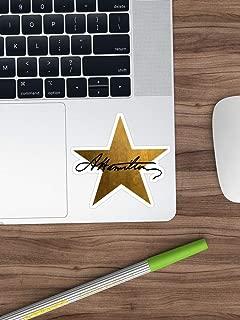 Hamilton Star Sticker Window Vinyl Sticker for Cars, Trucks, Windows, Walls, Laptops (Longest Side 3