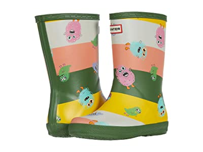 Hunter Kids Original First Classic Scribble Pioneers Print Wellington Boots (Toddler/Little Kid) (Scottish Moss) Kid
