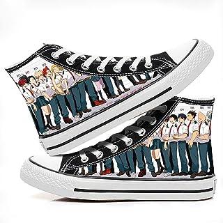 MAZF My Hero Academia High Gang Zapatos De Lona Neutros Zapatos De Impresión De Dibujos Animados Anime Zapatillas De Depor...