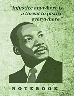 Martin Luther King notebook, 120 blank lined pages including Martin Luther King quotes.: Martin Luther Gift Journal Notebook