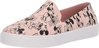 Melissa Shoes Women's Ground + Mickey Pink/White 8 M US