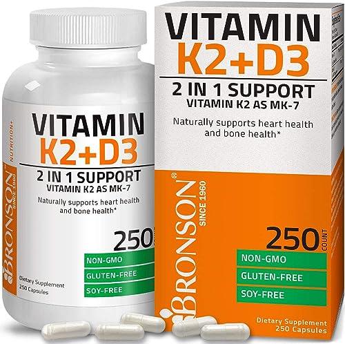 Vitamin K2 (MK7) with D3 Supplement - Bone and Heart Health Non GMO Formula - 5000 IU Vitamin D3 & 90 mcg Vitamin K2 ...