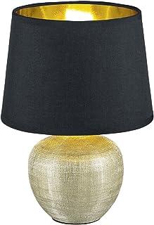 Reality, Lampe de table, Luxor 1xE14, max.40,0 W Tissu, Multicouleur, Corps: Céramique, or Ø:18,0cm, H:26,0cm IP20,Interru...