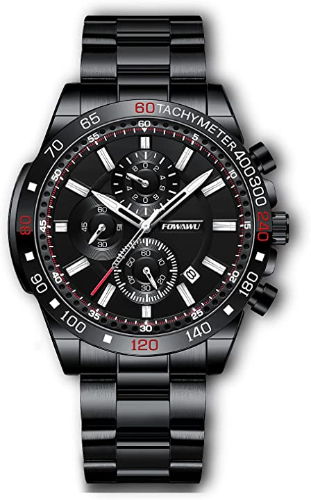 Orologio militare cronografo uomo luminoso quarzo analogico 30m impermeabile fowawu 568