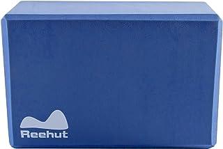 Reehut ヨガブロック(1個)、23cm x 15cm x 10cm ― 高密度 EVA 発泡体 ブロック、ポーズ補助や改善、体力増強、バランス補助や柔軟性向上に最適 - 軽量、耐臭性&防湿性(ブルー)