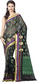 Chandrakala Women's Cotton Silk Blend Indian Ethnic Banarasi Saree with Unstitched Blouse Piece(1075)