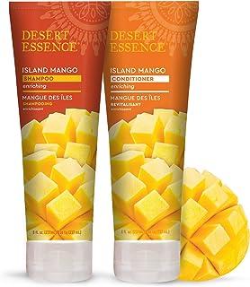 Desert Essence Island Mango Shampoo & Conditioner Bundle - 8 Fl Ounce - Enriching - Shea Butter - Jojoba Oil - Smooth & Si...