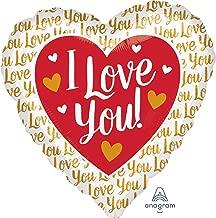 Anagram I Love You Gold Jumbo Foil Balloon