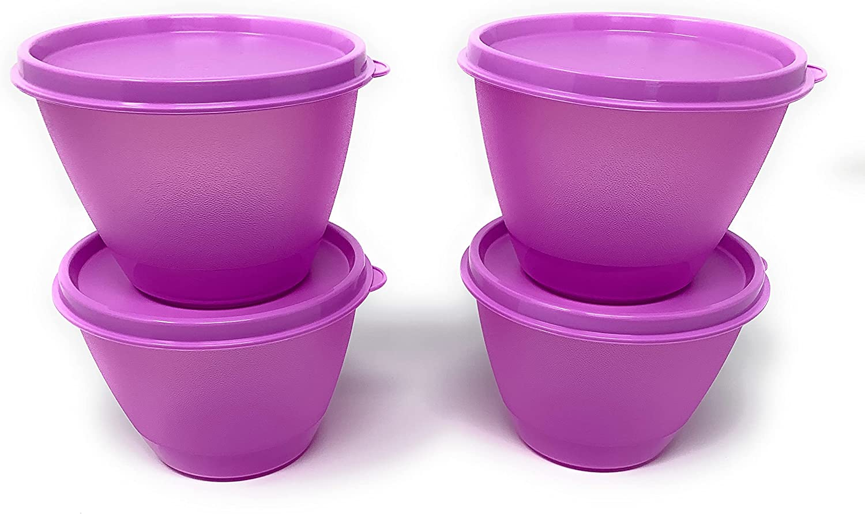 Tupperware 4 pc Refrigerator Philadelphia Mall Set Challenge the lowest price of Japan ☆ Purple Bowls